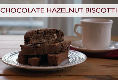 Impress your guests with this homemade chocolate-hazelnut biscotti recipe this holiday season!