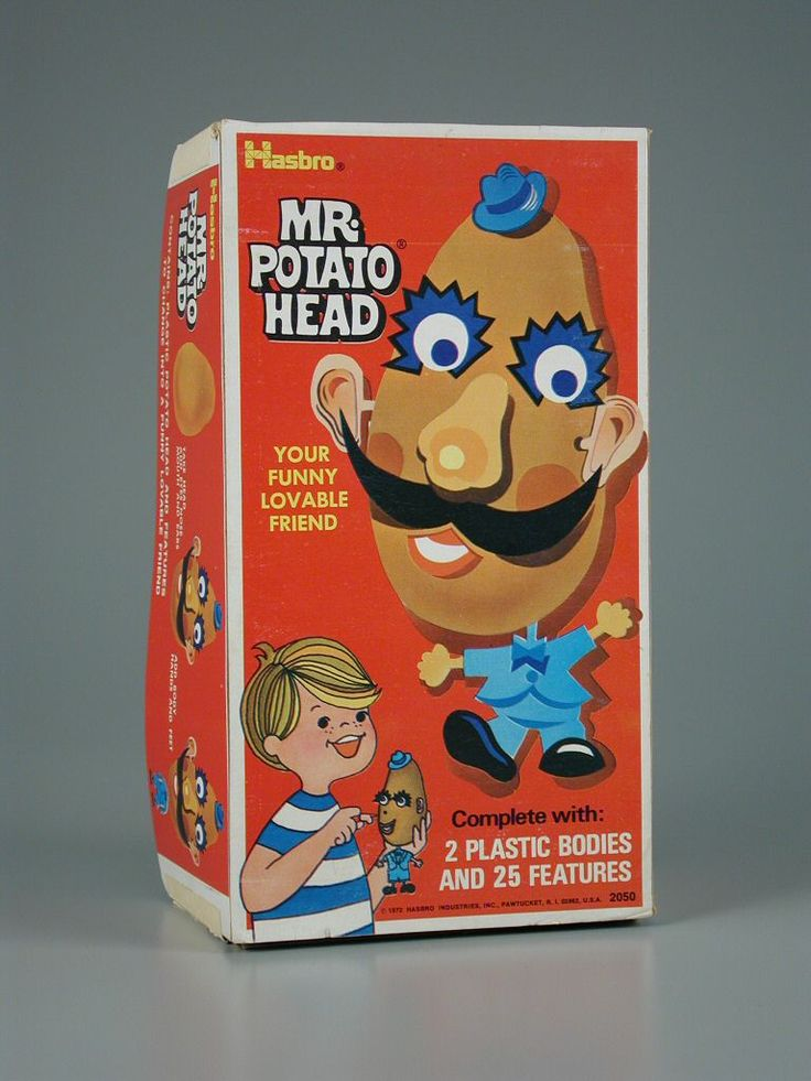 I remember this....Mr. Potato Head . We used real potatoes. See the vintage commercial: http://www.santamail.com/1950s/toy9-Mr-Potato-Head.htm