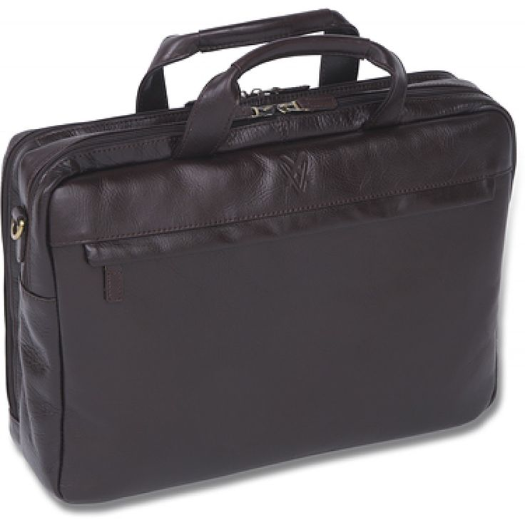 Quindici 2 Compartment Laptop/Briefcase - Brown
