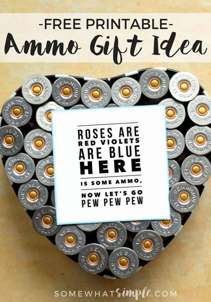 Free Printable Ammo Gift Idea | Whether he's a hunter, an avid sportsman, or just tough as nails- these manly gifts aresure to put a smile on his face.