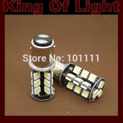 $5.49 (Buy here: https://alitems.com/g/1e8d114494ebda23ff8b16525dc3e8/?i=5&ulp=https%3A%2F%2Fwww.aliexpress.com%2Fitem%2F2x-Canbus-1157-s25-P21-5W-27smd-27-LEDS-SMD-5050-brake-lignt-obc-error-free%2F32656723255.html ) 2x Canbus 1157 s25  P21/5W 27smd 27 LEDS SMD 5050 brake lignt obc error free no error Free shipping for just $5.49
