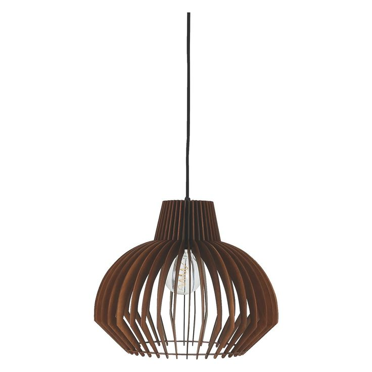 Ceiling Lamp Shades For Living Room: ACHILLE Walnut Plywood Ceiling Light Shade