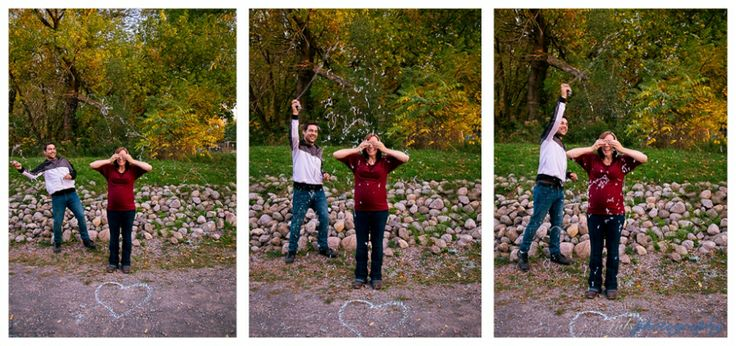fall maternity photography, gender reveal/sex reveal with silly string. jals photography » Stirling, ON