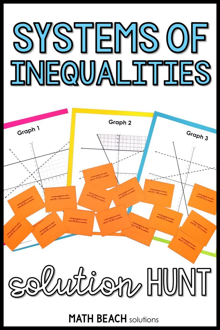 Systems Of Inequalities Solution Hunt Activity In 2020 Linear Inequalities Activities Solving Quadratic Equations Algebra Worksheets