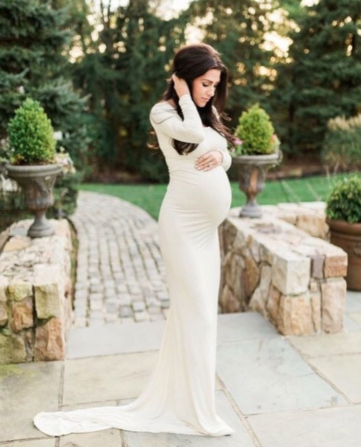 Royal Blue Jersey Lace Maternity Gown Mermaid Slim Fit