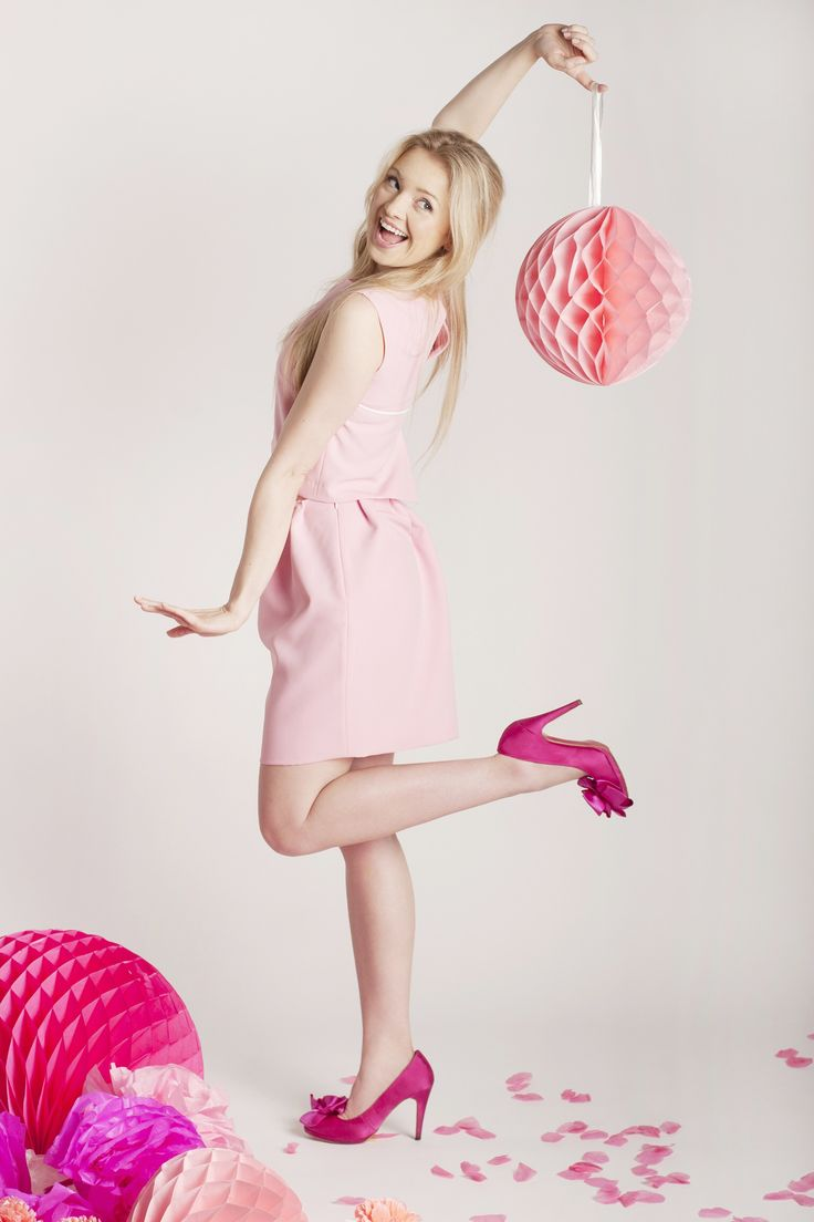 In the world of pink :) Basia Kurdej - Szatan in Estilo Rosa Set by Melismee Barcelona Vibe Collection
