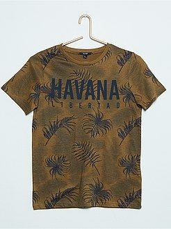 T-shirt met korte mouw maat 140 - T-shirt met korte mouwen en een motief - Kiabi