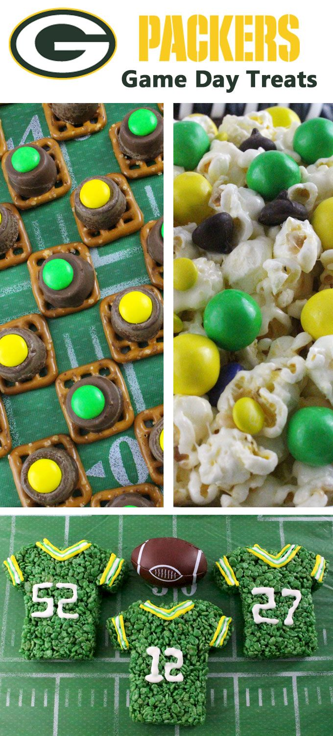 If you are a Green Bay Packers fan and it is Game Day, you'll want to make one (or all) of our Green Bay Packers Game Day Treats for your football watching family members. These are fun Yellow and Green football desserts that are perfect for a game day football party, an NFL playoff party or (hopefully!!!) a Super Bowl party. Follow us for more fun Super Bowl Food Ideas.