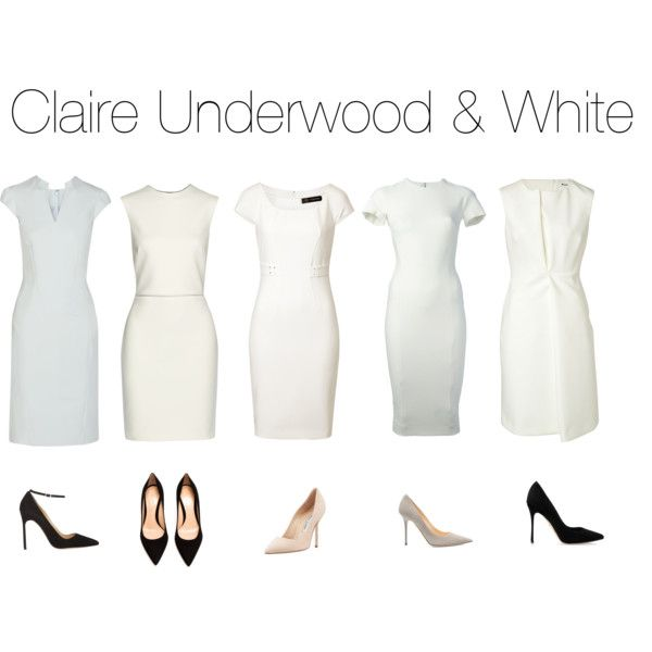 Claire Underwood & White by oliviapope411 on Polyvore featuring Versace, Victoria Beckham, Jil Sander, Zac Posen, ADAM, Manolo Blahnik, Gianvito Rossi, Sergio Rossi, Jimmy Choo and houseofcards