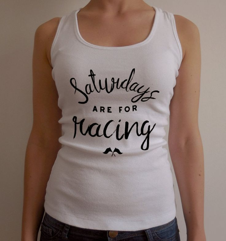 Classic Dirt Track Racing Tank for Women / Saturdays are for Racing Tank Top