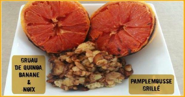 Gruau de quinoa et pamplemousse grillé - Rester en forme avec Sandra - Beachbody francais