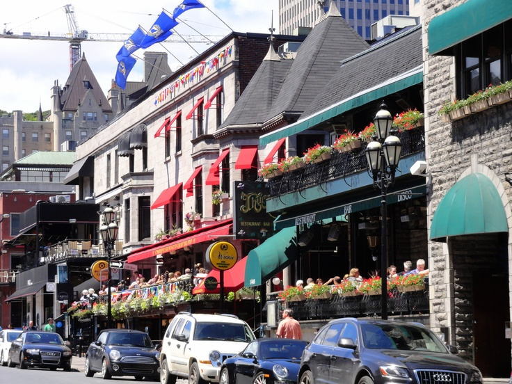 Crescent street, downtown Montreal.
