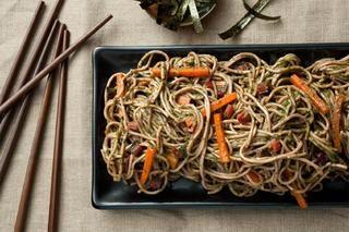 Soba Noodles with Swiss Chard–Miso Pesto | vegetarian, vegan, pasta