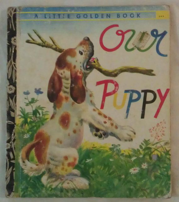 A little Golden Book Our Puppy 343 Vintage by avintagesparrowsnest, $5.00