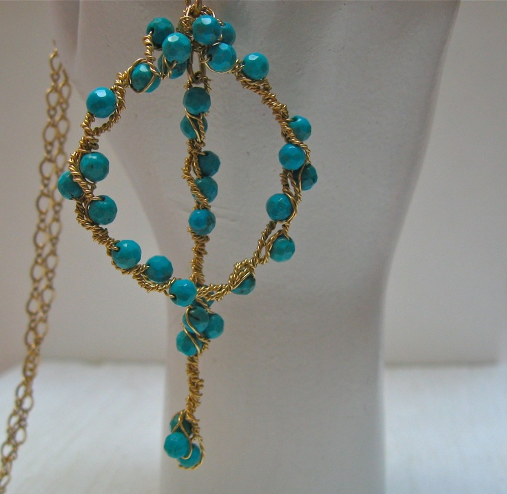 Faceted Turquoise Pendant. $40.00, via Etsy.