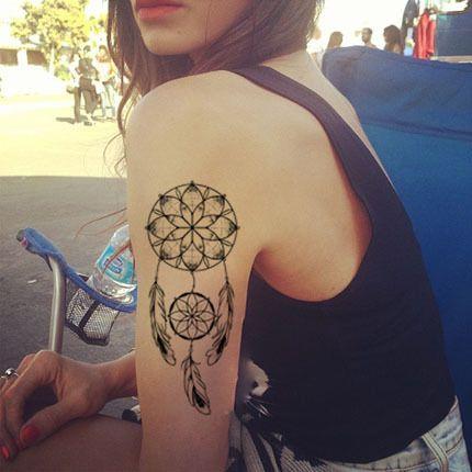花臂纹身贴-印第安图腾纹身贴 原创纹身羽毛 花臂 纹身贴纸 防水