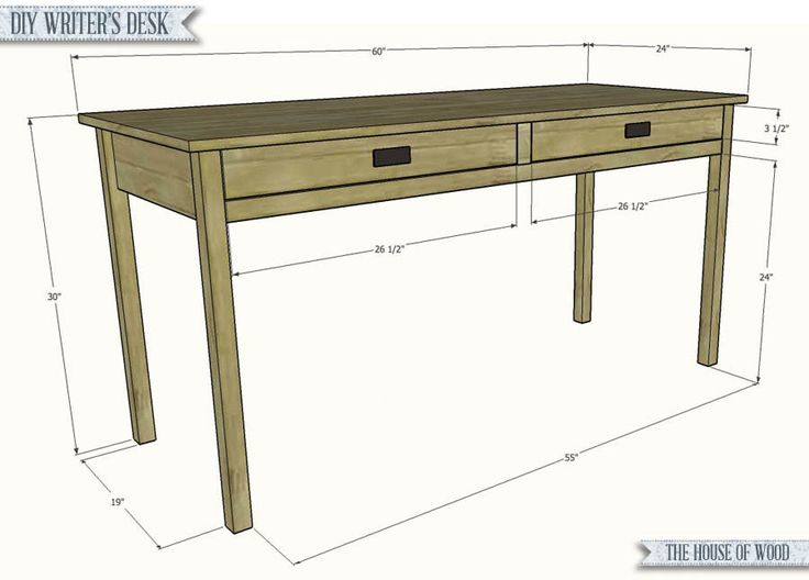 Build a simple writer's desk with free plans from Jen Woodhouse of The House of Wood.