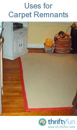 Binding Carpet Remnants with burlap & hot glue - quick and inexpensive!