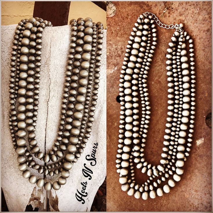 Navajo Pearl 5 Strand Necklace