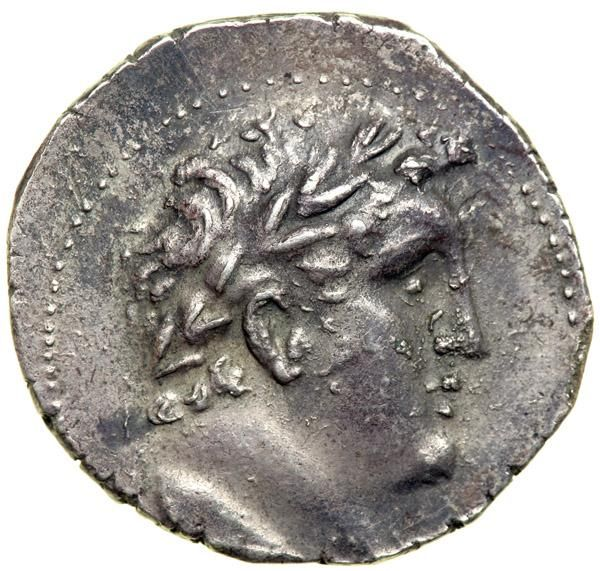 Phoenicia, Tyre, 31/30 BC. AR Shekel (or Phoenician-Weight Tetradrachm; 14.17 g) dated year 96. EF Laureate head right of Melqart. Eagle standing left on prow; in left field, club with date above. BMC 180. A little light die rusting. These late issues of shekels are often attributed to the Jerusalem mint because of their late dating, fabric and size of flan, as well as their sketchy style. Estimated Value $350 - 450. #Coins #Ancient #MADonC