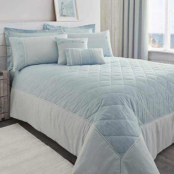 Millie Blue Bedspread | Dunelm
