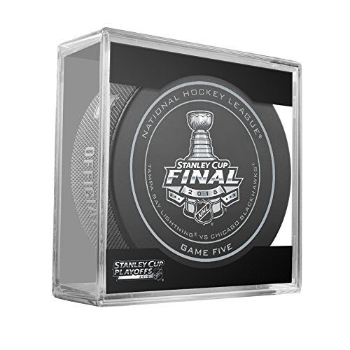 2015 NHL Stanley Cup Finals Game 5 Puck in Cube - Tampa Bay Lightning vs. Chicago Blackhawks by Sherwood