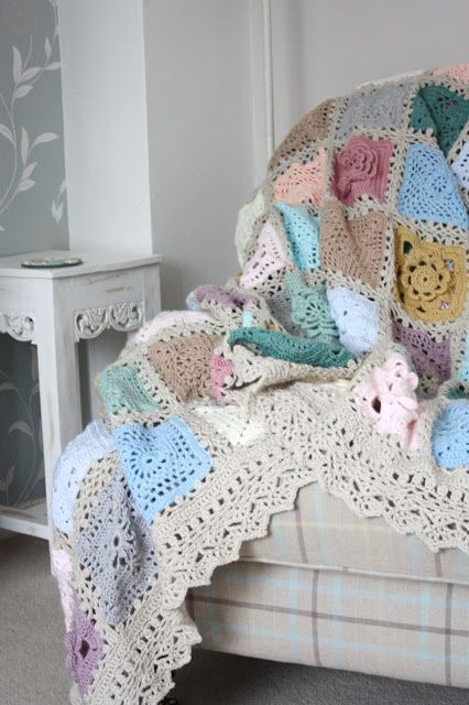 Cherry Heart: Sampler Blanket--beautiful soft-faded vintage feel with her color choices