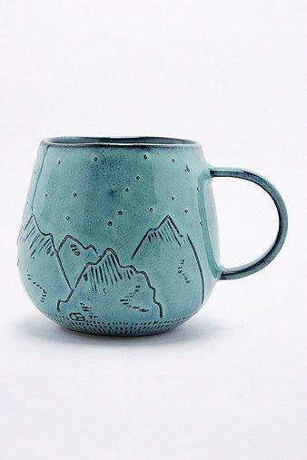 Mountain Mug | Home & Gifts | Kitchen & Bar | Glasses & Mugs | Urban Outfitters #UOonYou #UOEurope #UrbanOutfitters