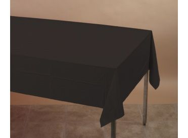 Black Rectangular Paper Table Cover with Plastic Lining - Whish.ca
