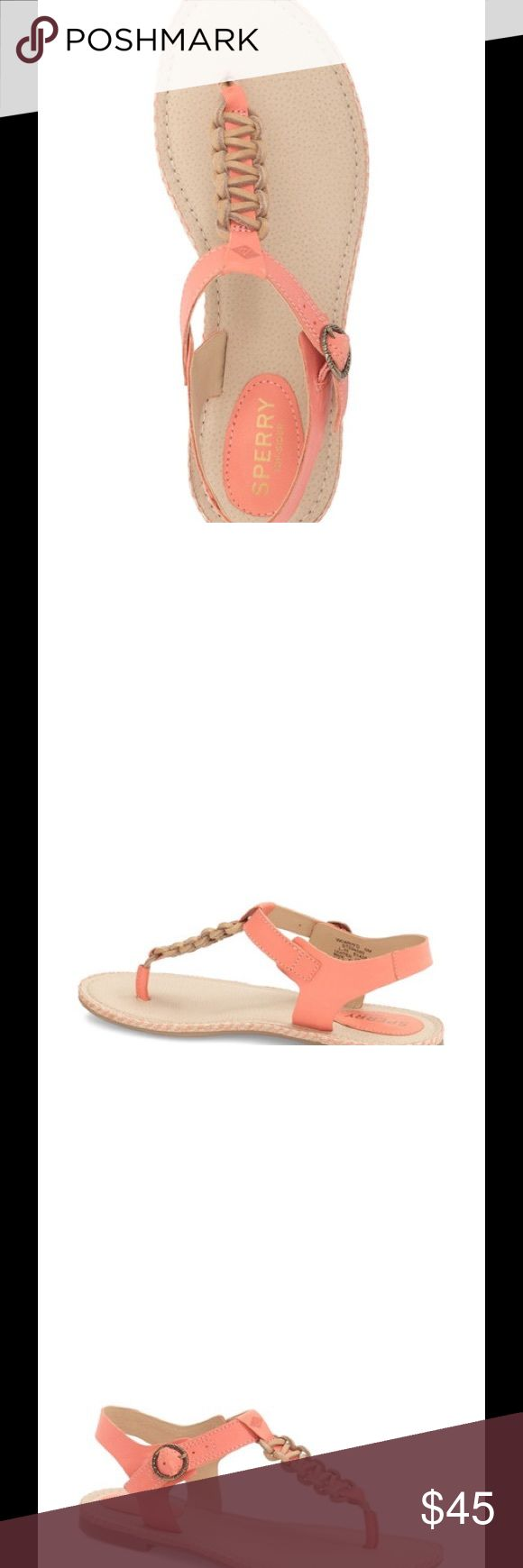 REDUCED! Coral Sperry Anchor Sandals SALE!🎉🎊🎉 Cute Coral Comfort Sperry Shoes Sandals