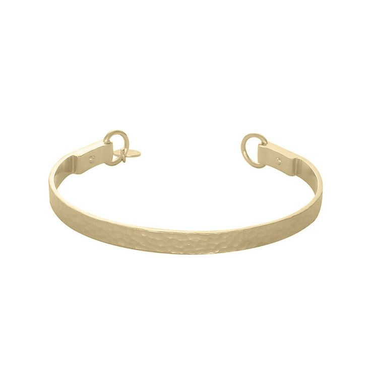 Nicole Fendel Willow Hammered Cuff - Gold