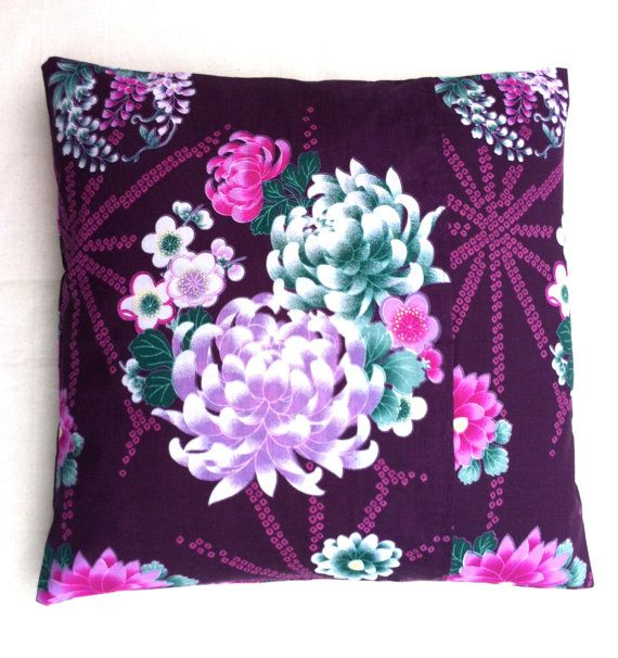 Cushion cover handmade in classic floral prints on by RhapsodyInc