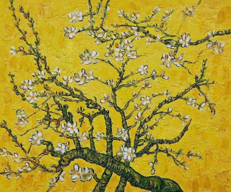 Branches of an Almond Tree in Blossom | Vincent Van Gogh FYI, Another Artist: http://universalthroughput.imobileappsys.com/ The Gallery Of An Acrylic Creationist here: http://universalthroughput.imobileappsys.com/site2/gallery.php