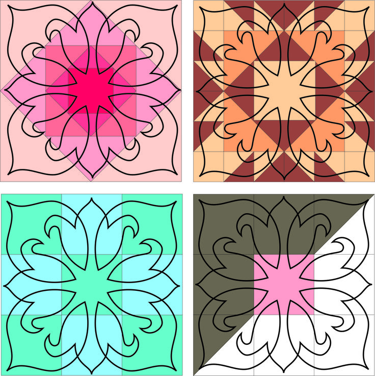 Easy block quiltng stencil by Fairy Quilt