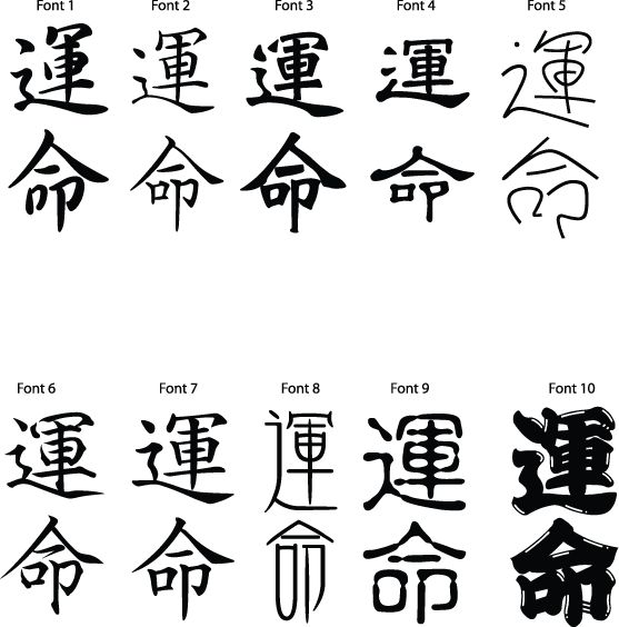 Dictionary :: Destiny in Chinese, Japanese and Buddhism