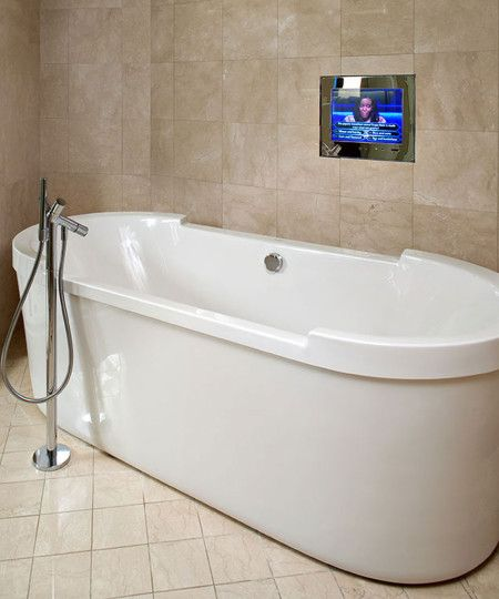 Northstar waterproof tv by electric mirror at mandalay bay las vegas nevada bath fixtures Bathroom light fixtures chicago