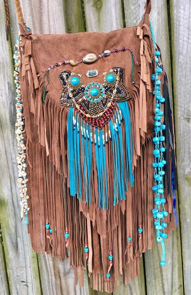 Handmade Brown Suede Leather Fringe Bag Boho Gypsy Hippie Festival Purse B.Joy | Clothing, Shoes & Accessories, Women's Handbags & Bags, Handbags & Purses | eBay!