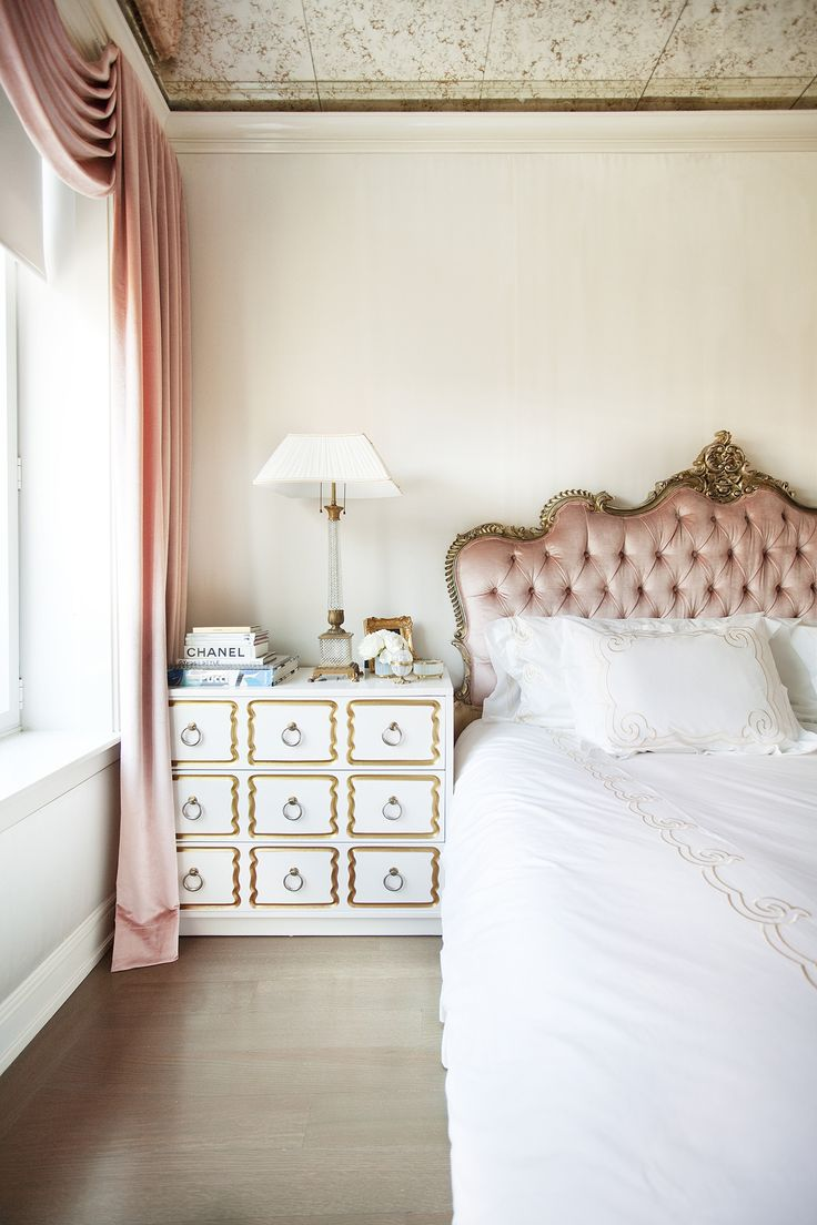 best 25 pink headboard ideas on pinterest girls headboard blush pink silk velvet is used for the headboard and drapery