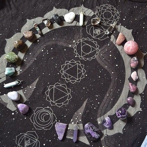 Crystal grid - Oh how I would Love to have this painted or penned on a sheet for me to use under the bed on the bed! Over the person! YES