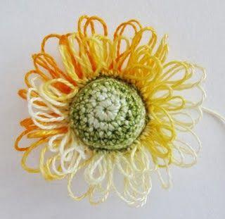 Flor em crochê passo a passo com gráfico - Crochê On Line - Gráficos, Paps e Vídeoaulas