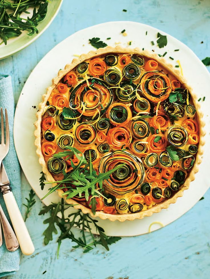 Asda Good Living | Carrot and courgette floral flan