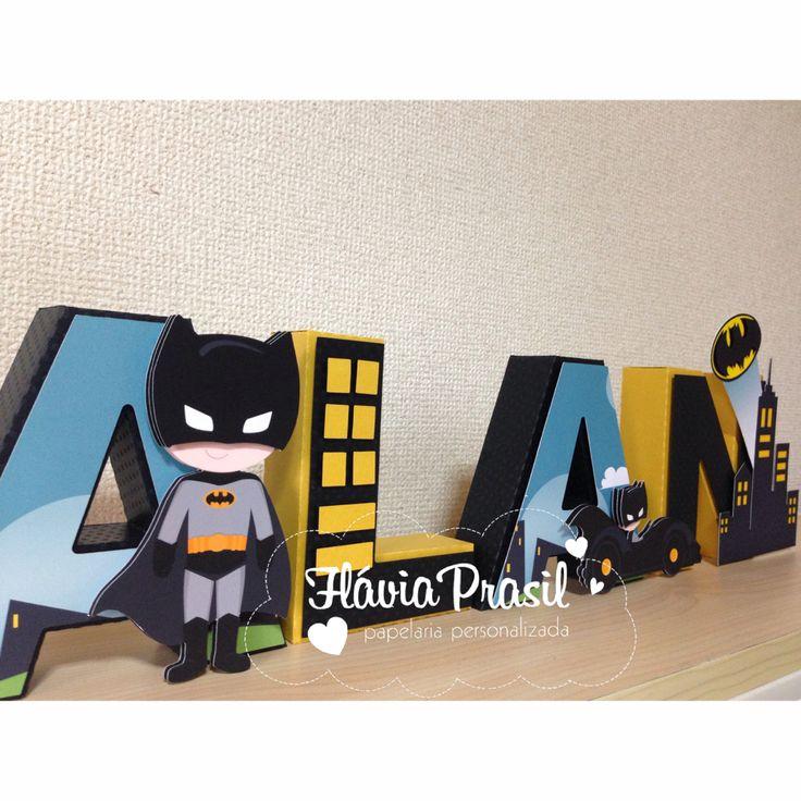 Letras 3D BATMAN