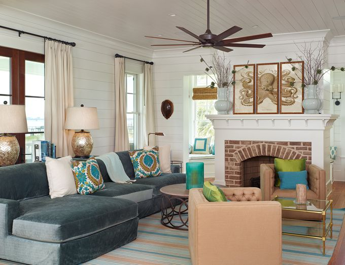 coastal living room | House of Turquoise: Structures Building Company