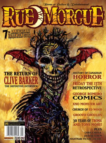 halloween cover of rue morgue magazine - Halloween Magazines