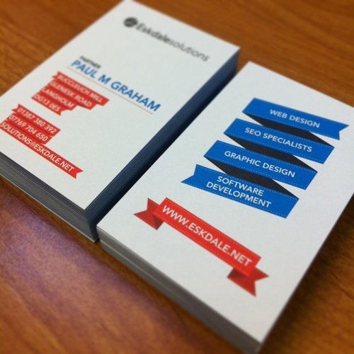 Business card design printed by moo.