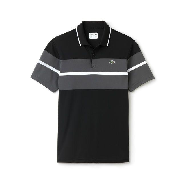 Polo Homme Lascote, craquez sur le Polo Tennis Lacoste SPORT en piqué ultra-dry imprimé color block de la Boutique Lacoste prix 85,00 €