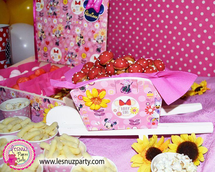 Setas galleta cumpleaños Minnie Mouse temático - Cookie mushrooms Birthday Minnie Mouse themed