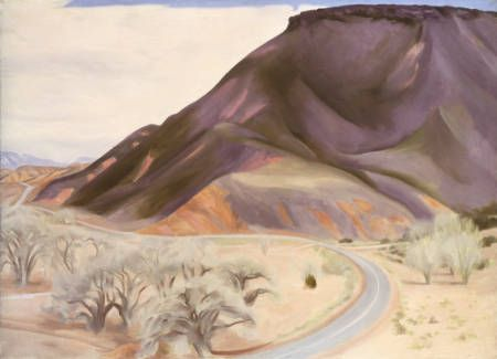 Mesa and Road East  O'Keeffe, Georgia  1952  oil on canvas  26 x 36 in