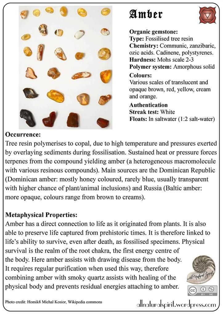 Crystal Lore 3#: Amber - Free Oracle Card, Amber, Crystal, healing, gem, gemstone, therapy, lithotherapy, gemmotherapy