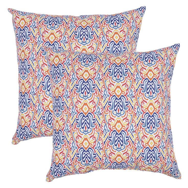 Outdoor 2-piece Reversible Oversized Throw Pillow Set, Multicolor